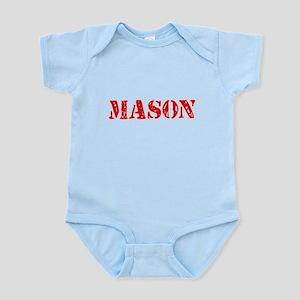 Mason Red Stencil Design Body Suit