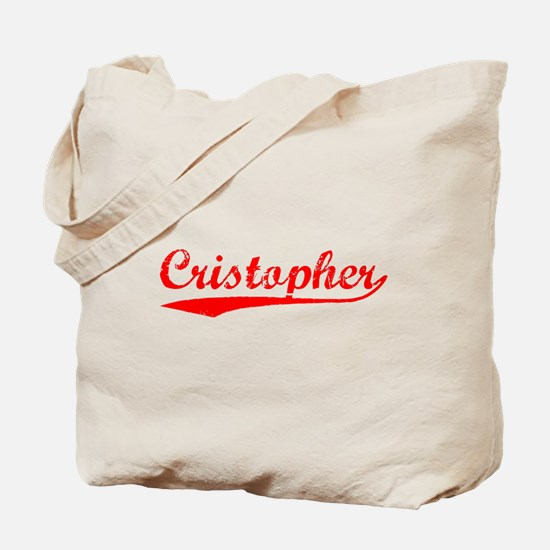 Vintage Cristopher (Red) Tote Bag