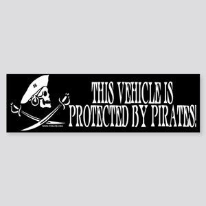 This Vehicle Protected By Pirates Bumper Sticker
