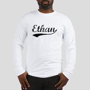 Vintage Ethan (Black) Long Sleeve T-Shirt