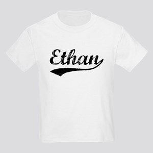 Vintage Ethan (Black) Kids Light T-Shirt