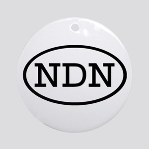 NDN Oval Ornament (Round)