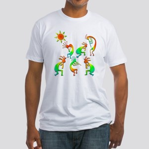Kokopelli Sun Dance Fitted T-Shirt