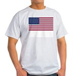 United States (USA) Flag Ash Grey T-Shirt