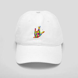 ASL I Really Love You Bright Colors Cap