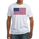 United States (USA) Flag Fitted T-Shirt
