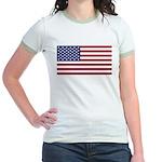 United States (USA) Flag Jr. Ringer T-Shirt