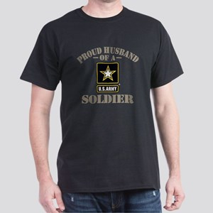 Proud Army Soldier's Husband Dark T-Shirt
