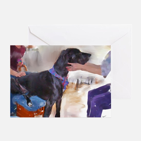 Loving A Great Dane Greeting Card