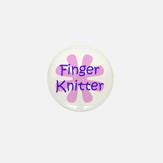 Finger Knitter Mini Button
