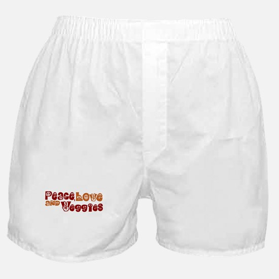Peace, Love and Veggies Boxer Shorts