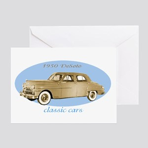 classic cars 1950 DeSoto Greeting Card