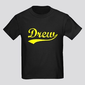 Vintage Drew (Gold) Kids Dark T-Shirt