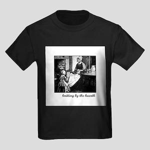 Knitting By the Hearth Kids Dark T-Shirt