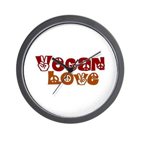 Vegan Love Wall Clock