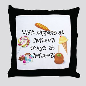 What Happens at Memere's... Throw Pillow