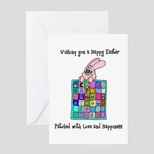Happy Easter Bunny Quilt Greeting Card