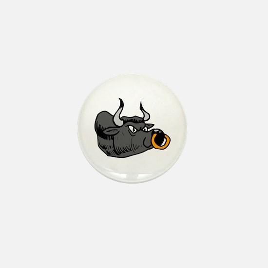 Black Bull Mini Button