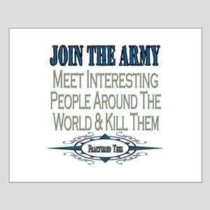Join The Army Small Poster