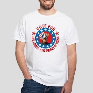 Vote for Min Pin White T-Shirt