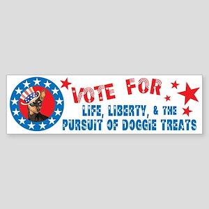 Vote for Min Pin Bumper Sticker
