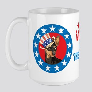 Vote for Min Pin Large Mug