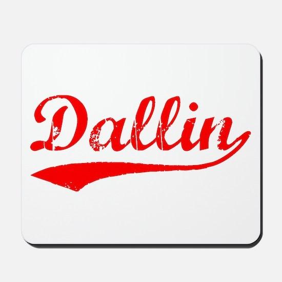 Vintage Dallin (Red) Mousepad