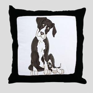 NMTL Tilt Pup Throw Pillow