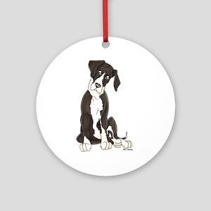 NMTL Tilt Pup Ornament (Round)