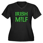 Irish MILF Women's Plus Size V-Neck Dark T-Shirt