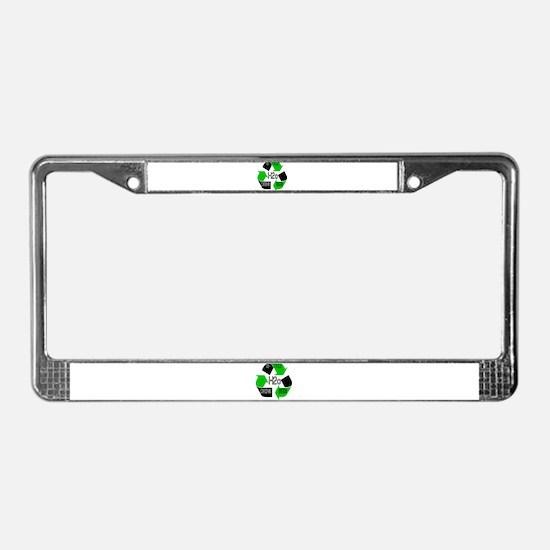 Recycle DRINK BEER License Plate Frame