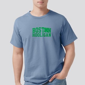 Boston Hooligan Green Shamrock St Patricks T-Shirt