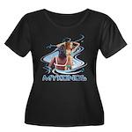Mykonos Women's Plus Size Scoop Neck Dark T-Shirt