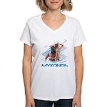 Mykonos Women's V-Neck T-Shirt