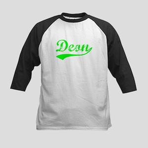 Vintage Deon (Green) Kids Baseball Jersey