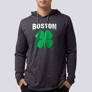 Boston Shamrock St Patricks Da Long Sleeve T-Shirt