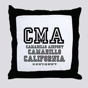 AIRPORT JETPORT CODES - CMA - CAMARI Throw Pillow