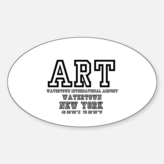 AIRPORT CODES - ART - WATERTOWN, NEW YORK Decal