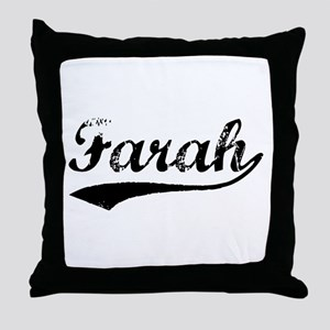 Vintage Farah (Black) Throw Pillow