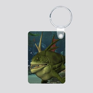 Awesome armourfush in the deep ocean Keychains