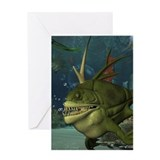 Deep sea fish birthday Greeting Cards
