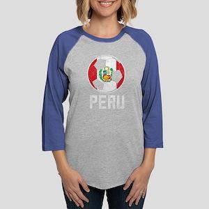 Peruvian Flag Soccer Lover T-S Long Sleeve T-Shirt