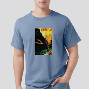 Vintage 1930s Visit Yugoslavia Tourist Tra T-Shirt