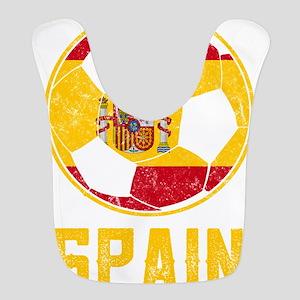 Spanish Flag Football Grunge Fl Polyester Baby Bib
