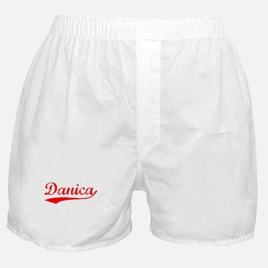Vintage Danica (Red) Boxer Shorts