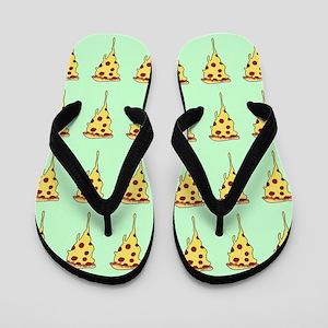 pizza print Flip Flops