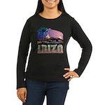 Ibiza Club Women's Long Sleeve Brown T-Shirt