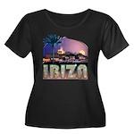 Ibiza Wmn's Plus Size Scoop Nk Blk T-Shirt