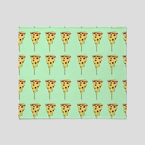 pizza print Throw Blanket