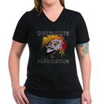 WickedWays Fabrication Women's V-Neck Dark T-Shirt